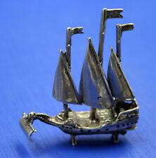 kleines Segelschiff Silber 800