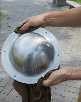 "Shield Boss Umbo 14 Gauge Steel 9.25"" LARGE Dome HEMA SCA Combat Ready NEW"