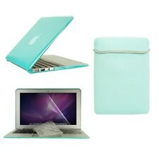 """4in1 Hot BLUE Crystal Case for Macbook Air 13"""" (A1369 and A1466) +Key +LCD + Bag"""