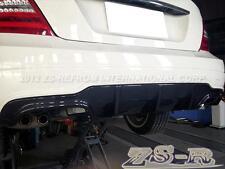 C250 C350 C63 Coupe Carbon Fiber AMG Style Bumper Diffuser w/ Trunk Lip Spoiler