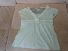 Girls 4-5 Years - Light Turquoise Blue Short Sleeved Top - Fat Face