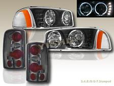 2000-06 GMC YUKON/ YUKON DENALI HALO HEADLIGHTS LED + SMOKE TAIL LIGHTS ALTEZZA