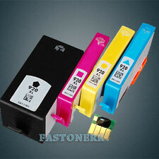 4 Pack 920XL Ink Cartridge for HP CD975AN OfficeJet 6000 7000 7500A (With Chip)
