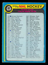1979 80 OPC O PEE CHEE #237 10% MARKED CHECKLIST EX-NM 133-264 HOCKEY