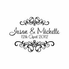Personalized Custom Handle Mounted Rubber Stamp Returned Address Wedding W12