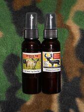 Dominate Buck Urine 2oz. & Ol'Slick Top DOE PEE 2oz.  Buck lure, Cover scent