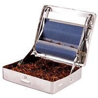 ds Macchinetta Rulla Sigarette Porta Tabacco Rullatrice Metallo Tabacchiera hsb