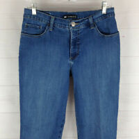 Lee womens size 8S x 28.5 stretch med wash mid rise classic straight denim jeans