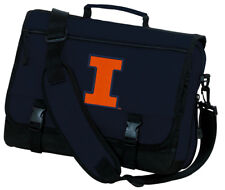 University of Illinois Messenger Bag Navy BEST UNIQUE MESSENGER SCHOOL TRAVEL BA