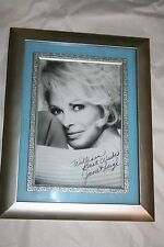 JANET LEIGH AUTOGRAPHED PERSONALIZED PHOTOGRAPH- FRAMED
