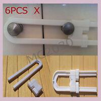 OZ Stocks 6pcs Baby Cabinet Cupboard Locks Door Safety Lock Children Baby Kid