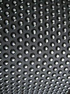 """D'Andrea Ace Skins Black Bonded Leather Vinyl Back Tac Head Guitar Strap NOS 3"""""""