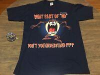 Looney Tunes Tasmanian Devil Taz Authentic Vintage Large T Shirt 1996 90s Retro