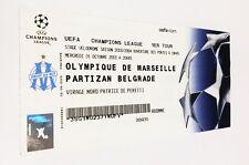 used ticket OLYMPIQUE Marseille - PARTIZAN Beograd 01.10.2003