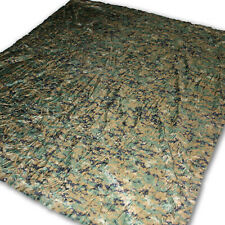 "Used Woodland Reversible Field Tarp Military Issued Marpat Digital Camo 90""x80"""