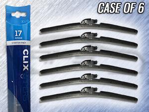 "AUTOTEX CLIX 17"" WIPER BLADE - CLIX-17 - CASE OF 6 - REPLACES IN 10 SECONDS"