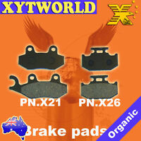 Front Rear Brake Pads for Kawasaki KX125 KX 125 G 1989-1993