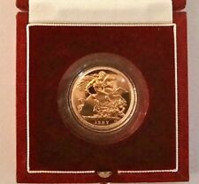 1987 soberano De Oro De Prueba Reina Elizabeth II + cosechadas dentro de caja de lujo certificado de autenticidad