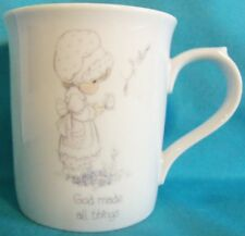 "1985 Precious Moments Coffee Cup ""God Made All Things"""
