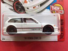 2015 Hotwheels 1990 Honda Civic EF #330 * WHITE DVB00