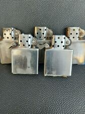 ZIPPO INSERTS - 5 INSERTS DATES UNKNOWN DUE TO WEAR & TEAR