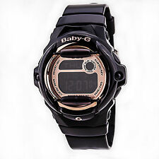 Casio Baby-G Womens Wrist Watch Digital BG169G-1 Black Rose Gold New