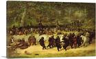 ARTCANVAS The Bear Dance 1850 Canvas Art Print by William Holbrook Beard