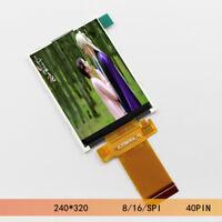 "2.8"" inch LCD screen TFT 8/16 bit module SPI PIN 240x320 ILI9341 ST7789S driver"