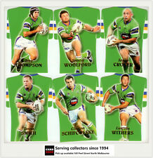 2006 Select NRL Invincible Trading Cards Jersey Die Cut Team Set Raiders (6)