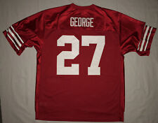 Ohio State Buckeyes #27 Eddie George Nike Red Football Jersey Xxl 2Xl Sewn!