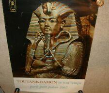 RARE 1967 TOUTANKHAMON KING TUT EGYPT POSTER PARIS PETIT PALAIS FRANCE