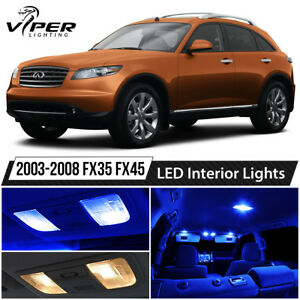 Blue LED Interior Lights Package Kit for 2003-2008 Infiniti FX35 FX45