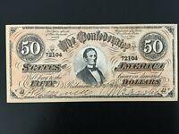Vintage 1960's Civil War Confederate Currency Replica - Jefferson Davis