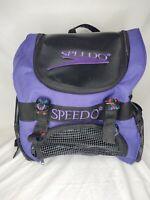 Speedo Teamster 35L Purple Black Swim Backpack Bag 15X15X12