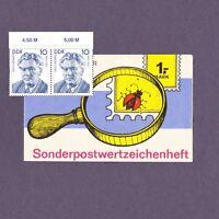 DDR Markenheftchen Sonderpostwertzeichenheft 1,- M 1990 Erich Weinert