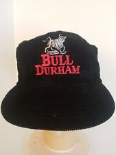 Bull Durham Black Corduroy Hat Red/White Logo Tobacciana Snapback Hat Cap