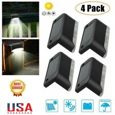 4X Solar LED Bright Deck Lights Outdoor Garden Patio Railing Decks Path Lighting