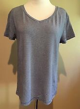 NWT Women's Blue Stripe Short Sleeve Mossimo V Neck Top T-Shirt XXL