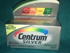 CENTRUM SILVER ADULTS 50+ MULTIVITAMIN 80 TABLETS EACH EXP 06/20
