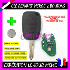Clé plip vierge télécommande Renault trafic kangoo Master Clef
