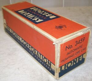 Lionel Postwar 3459 Lionel Lines Dumping Ore Car Original 3-City BOX ONLY ~ Good