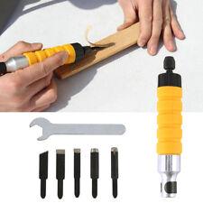 Grabado de talla de madera eléctrica Cincel de mano Carpintería con 5 Cinceles