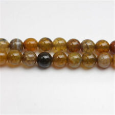 Wholesale Dragon Veins Agate Craked Crystal Glass Gemstone Bead Jewelry Findings