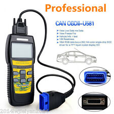 U581 OBD2 OBDII CAN BUS Car Scanner Live Code Reader Engine Diagnostic Scan Tool