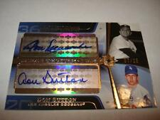 2004 UD Ultimate Collection Dual Autograph DON NEWCOMBE & DON SUTTON 7/25