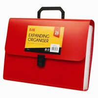 A4 Foolscap Expanding File Organiser 26 POCKETS Filing Storage Folder School