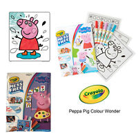 Crayola Peppa Pig Kids Colour Wonder Refresh Colouring Pages and Pens Art Set