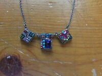 FIREFLY JEWELRY SWAROVSKI CRYSTALS MULTI COLOR NECKLACE RETIRED 16""