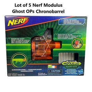 Lot of 5 New! Nerf Modulus Ghost Ops Chronobarrel Upgrade Kit