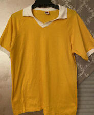 Vintage Russell Athletic Yellow Volleyball Soccer Jersey Medium Made In Usa